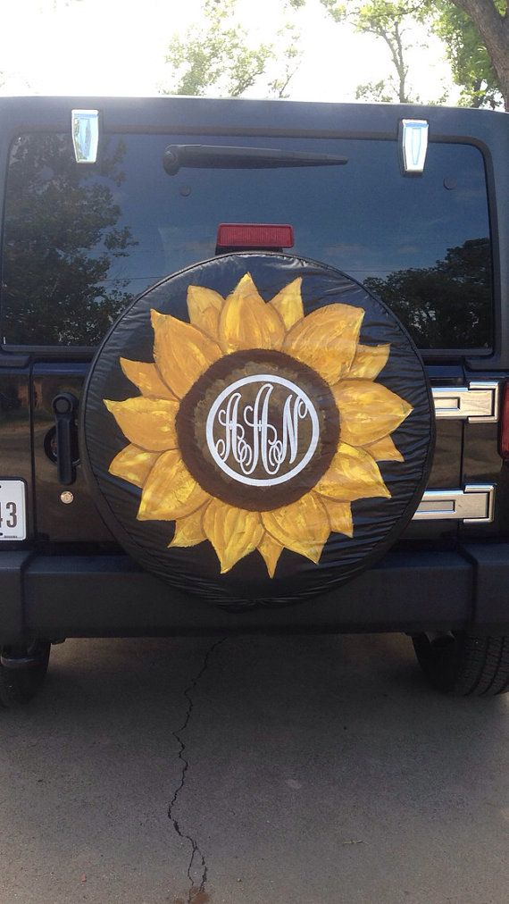 Sunflower Tire Cover Nature Lover Gift Jeep Gift For Her Jeep Wheel Covers Spare Tire Covers Jeep Tire Cover