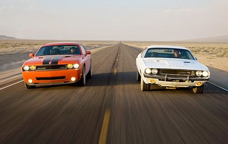 The Dodge Challenger I Love Both The Old And New Just The Job To