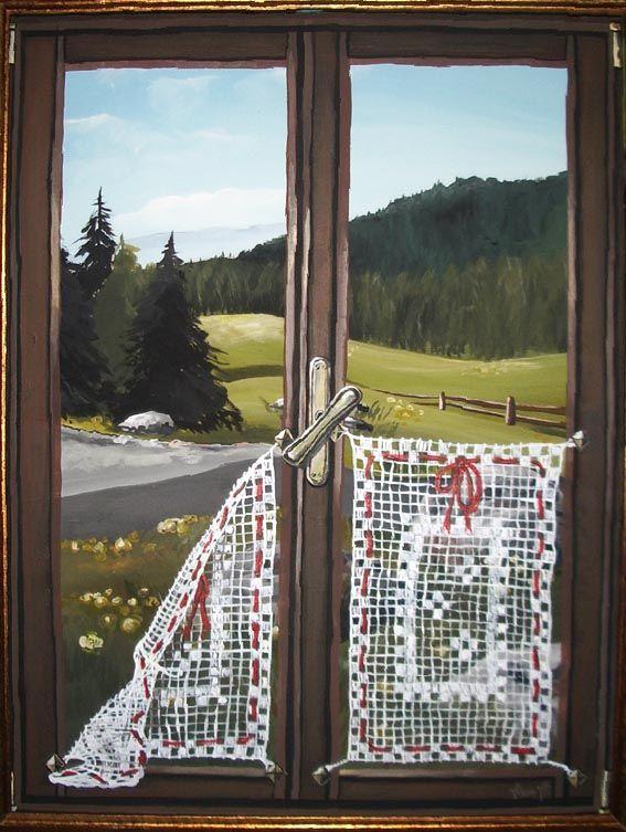 Trompe l 39 oeil murales quadri decorazioni artistiche disegni trompe l 39 oeil pinterest - Quadri con finestre ...