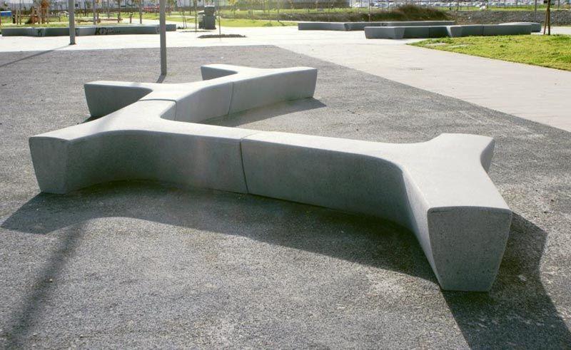 Modern Bench Concrete Google Search Bench Pinterest Concrete Bench Landscape