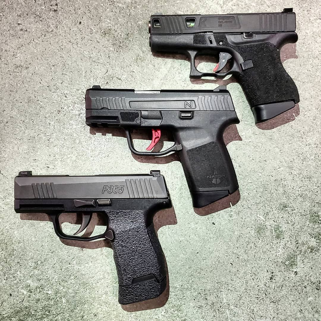 Not a bad looking group    Glock 43 Naroh N1 Sig P365 What is