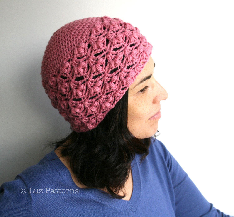 Crochet hat PATTERN INSTANT DOWNLOAD crochet women by LuzPatterns ...
