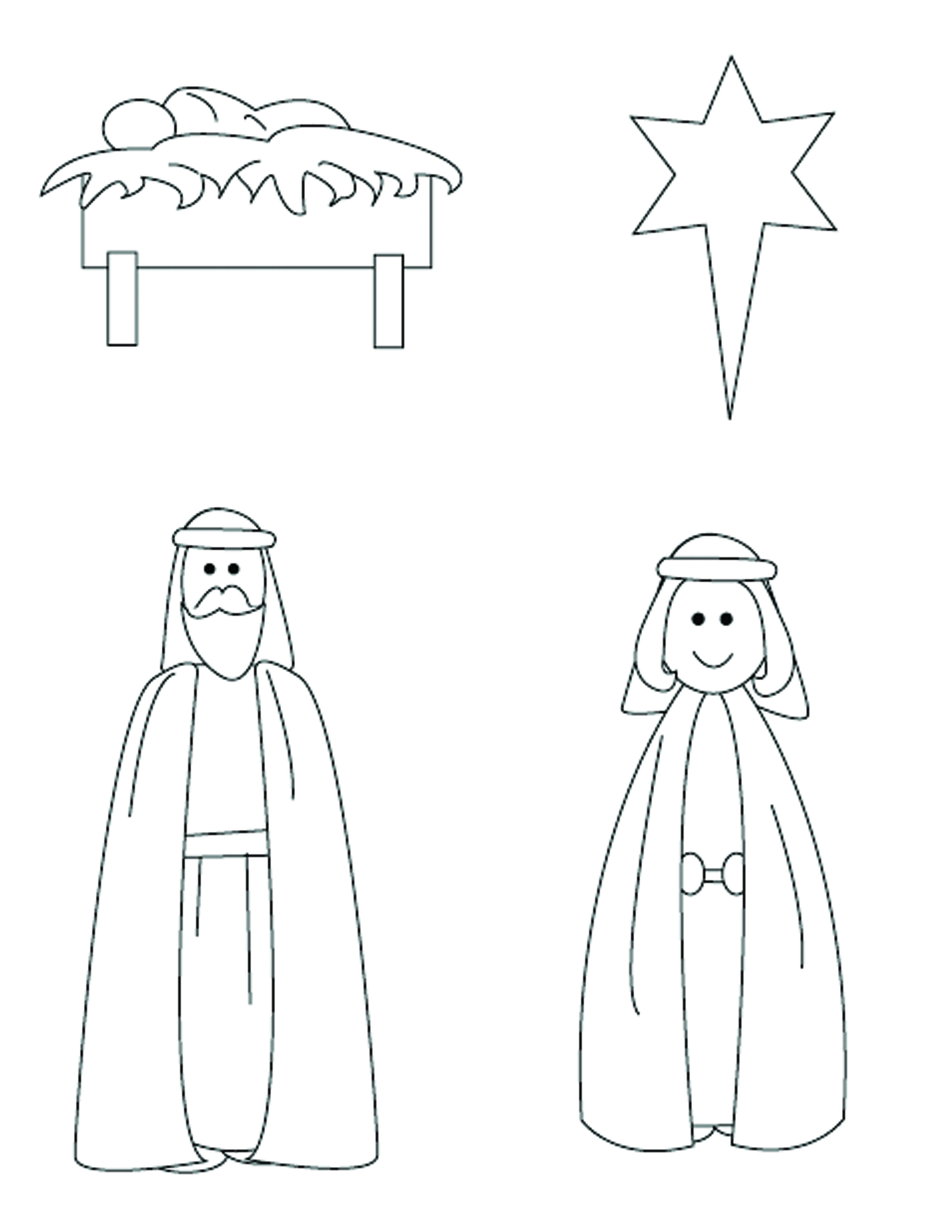 These Nativity Cutouts Are Used In The Ready Room Station And Preschool Starlight Bible Story On