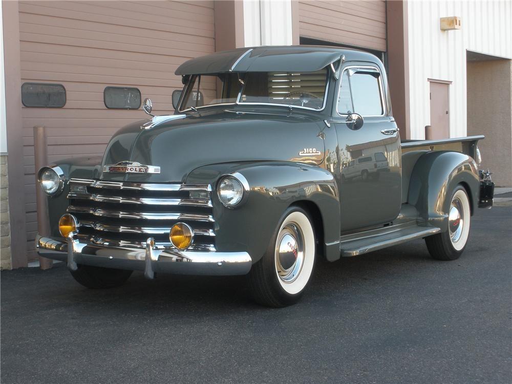 1953 Chevrolet 3100 Pickup Barrett Jackson Auction Company Chevy Trucks Classic Trucks Chevrolet Trucks