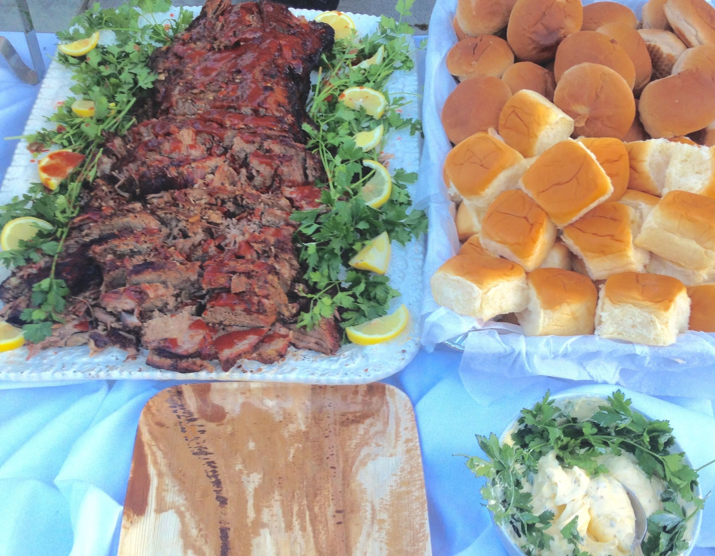 Congrats To Mia And Henry On Their Recent Wedding Was Honored To Cater Smoked Bbq Brisket At Rehearsal Dinner Bbq Catering Food Network Recipes Food Help
