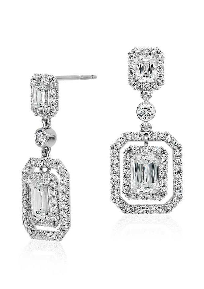 37+ Emerald cut diamond halo earrings info