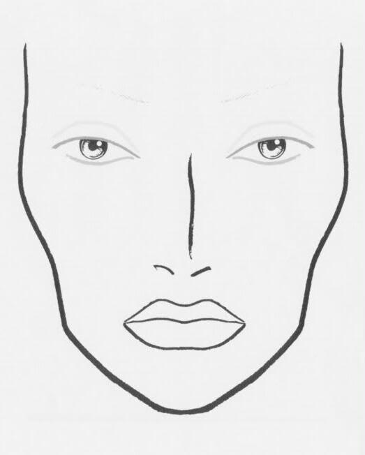 Makeup templates face blank chart photo macfacechartg also macfacechart rh pinterest
