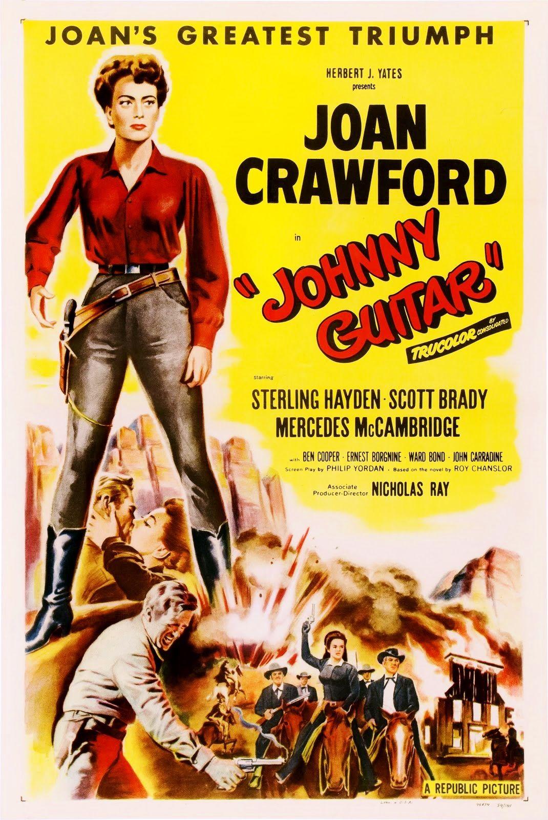 64 Johnny Guitar Nicholas Ray 1954 Películas Del Oeste Carteles De Película Antiguos Carteles De Cine