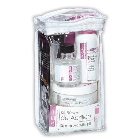 Amazon Com Asp Basic Starter Acrylic Kit Beauty Acrylic Nail Supplies Acrylic Nail Kit Diy Acrylic Nails