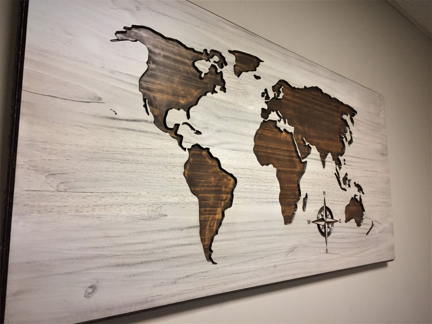 World map home decor carved wood wall art stained wooden map by world map home decor carved wood wall art stained wooden map by howdyowl on gumiabroncs Image collections