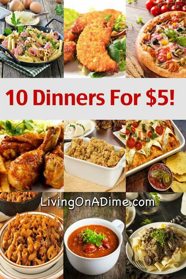 10 Dinners For 5! Cheap dinners, Cheap dinner recipes