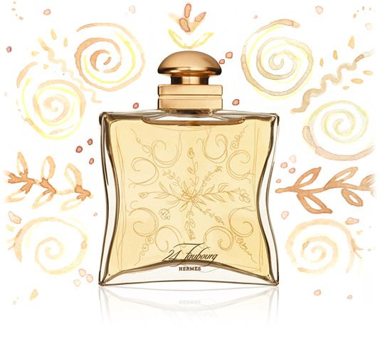 24 Faubourg by Hermes.  Said by Princess Diana's butler, Paul Burrell, to be her favourite perfume. It's a scent of rich, warm flowers mixed with a hint of spice.  Includes orange blossom, jasmine, tiara flower, ylang ylang, iris, patchouli, vanilla, ambergris and sandalwood.  #perfume #beauty
