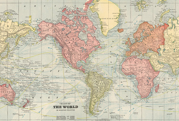 World Map Printable Digital Download Vintage World Map Old World Map