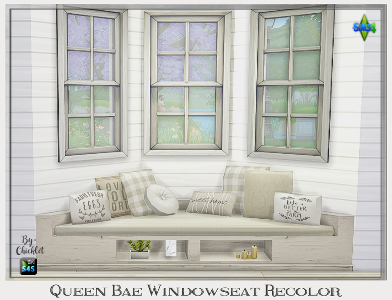 Ts4 Queen Bae Window Seat Recolor Window Seat Seating Sims 4