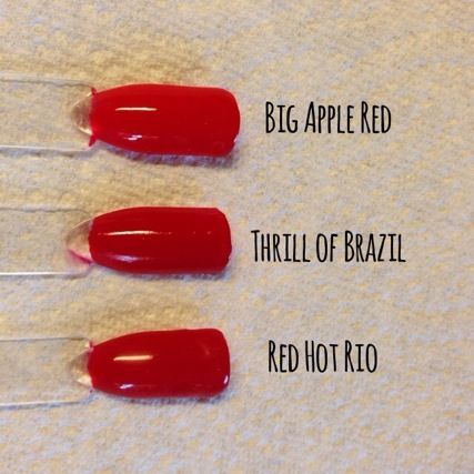 I only have these three red shades. I really want OPI Red ...