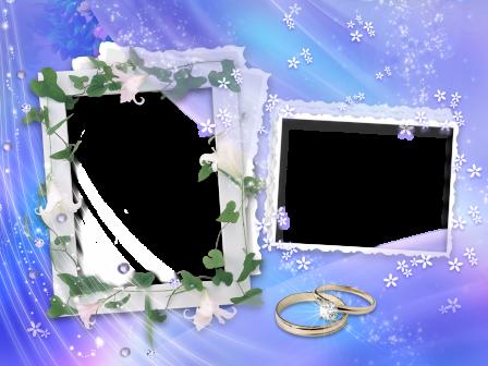 Pictures of Blue Wedding Frame Background - #rock-cafe