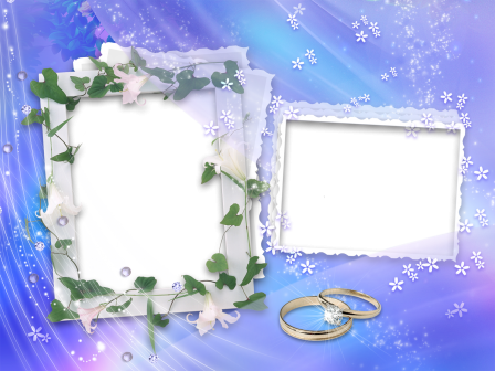 Free Wedding Backgrounds Frames Two Frames On Bright Blue