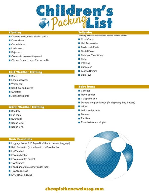 DIY Cruise Itinerary + FREE Children's Packing List Printable ...