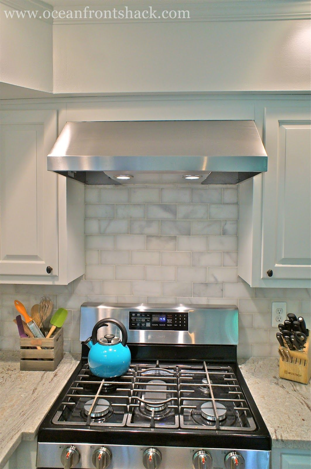 Replacing Microwave With Range Hood Replace A Built In Microwave With A Stylish Range Hood More Budget Kitchen Makeover Kitchen Remodel Small Kitchen Redo