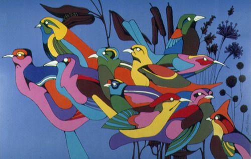 Los pájaros, pero de los buenos: «John Alcorn, illustration Birds for a Calendar (1967)».