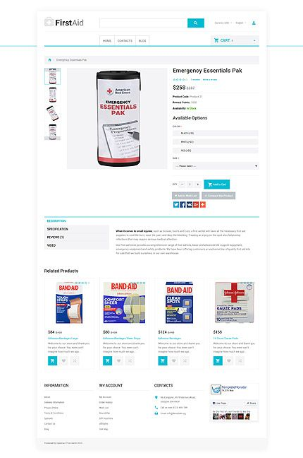 Medical website inspirations at your coffee break? Browse for more OpenCart #templates! // Regular price: $89 // Sources available: .PSD, .PNG, .PHP, .TPL, .JS #Medical #OpenCart #Responsive