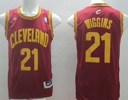 Cleveland Cavaliers #21 Andrew Wiggins Red Swingman Jersey