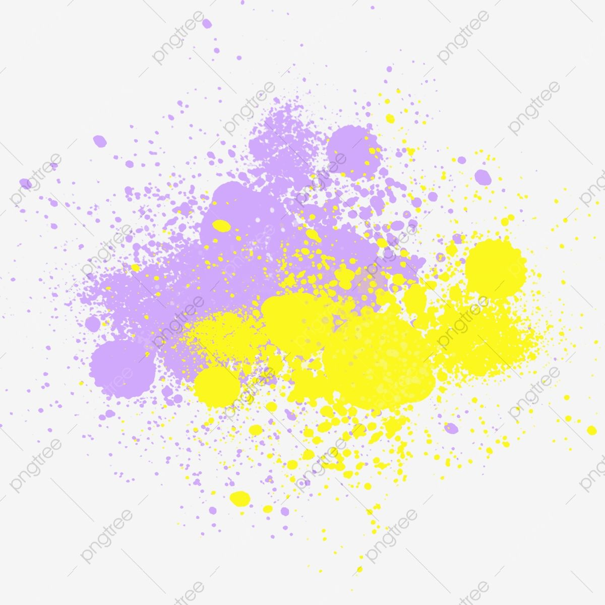 Yellow And Purple Complementary Color Irregular Paint Splashing Yellow Purple Complementary Colors Png Transparent Clipart Image And Psd File For Free Downlo Complementary Colors Paint Splash Watercolor Background