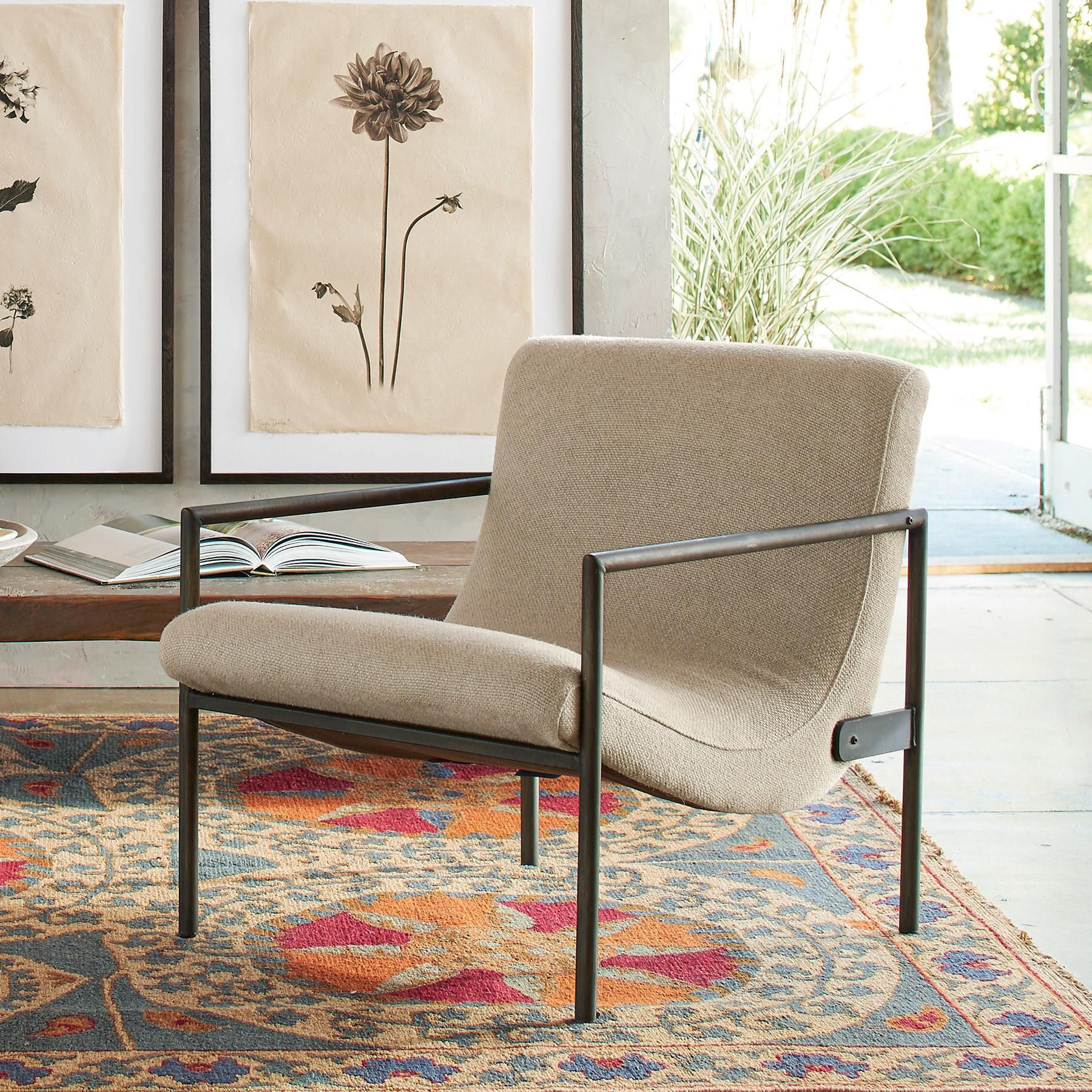 GRIFFITH LINEN CLUB CHAIR A Sundance favorite in leather now