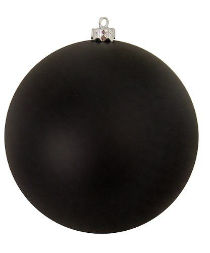 """$16.99-$29.99 Matte Jet Black Commercial Shatterproof Christmas Ball Ornament 10"""" (250mm) - Huge Commercial Grade Shatterproof Christmas Ornament   Item #N592517MV This very unique hard to find item is perfect for commercial decorating, onlookers will be amazed by its size and beauty.   The best part about our shatterproof ornaments is that they look just like glass and they're ideal for public  ..."""