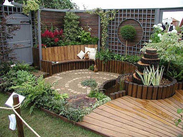 Con Una Brisa Oriental Jardines Rusticos Jardines Verticales Decoracion De Jardin Rustica