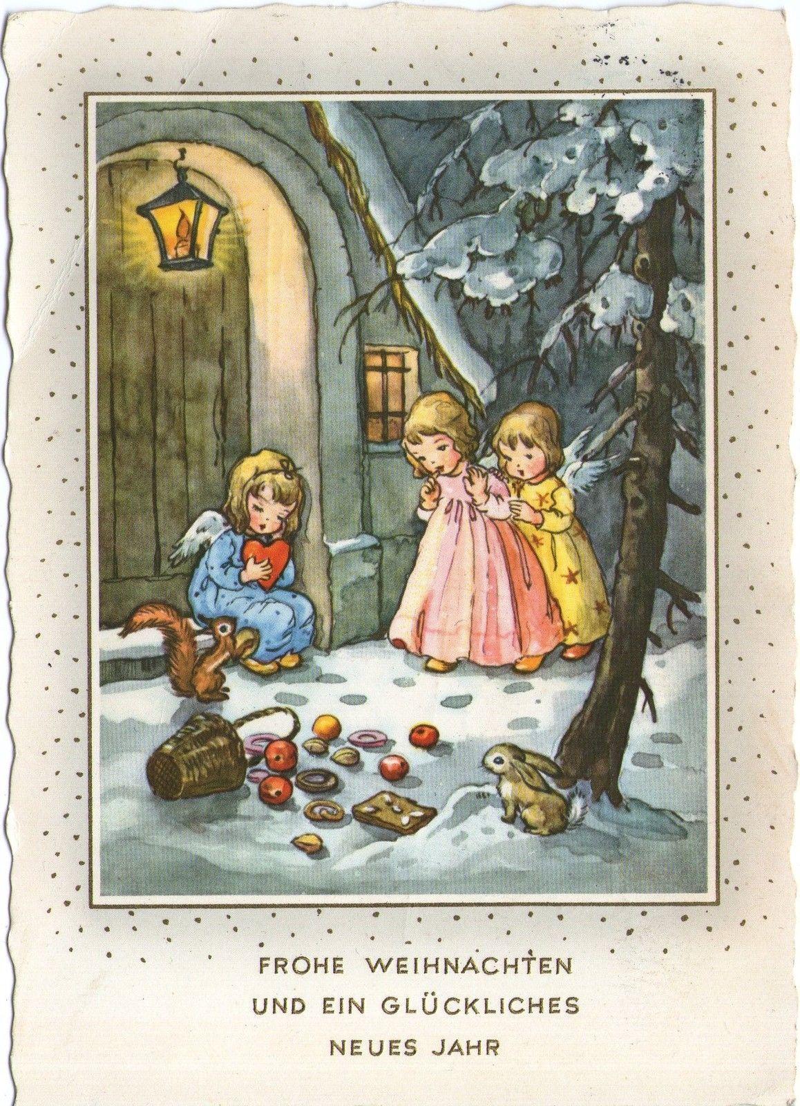 Ak lieselotte fabig distling engel gel 1960 deutschland ebay liselotte fabig - Weihnachtskarten bilder ...