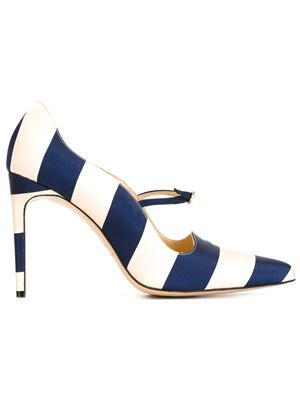 Bionda Castana 'Renee' pumps | Blue leather shoes, Leather