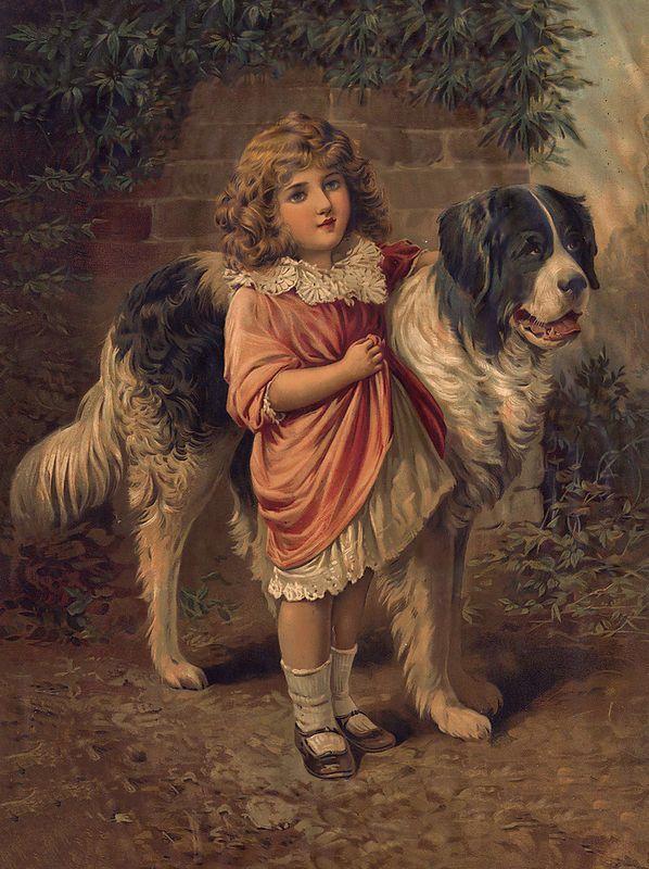 Love vintage pet art!! I Have This Picture, Love it!