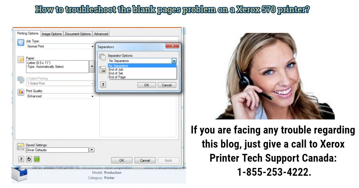 How To Troubleshoot The Blank Pages Problem On A Xerox 570 Printer