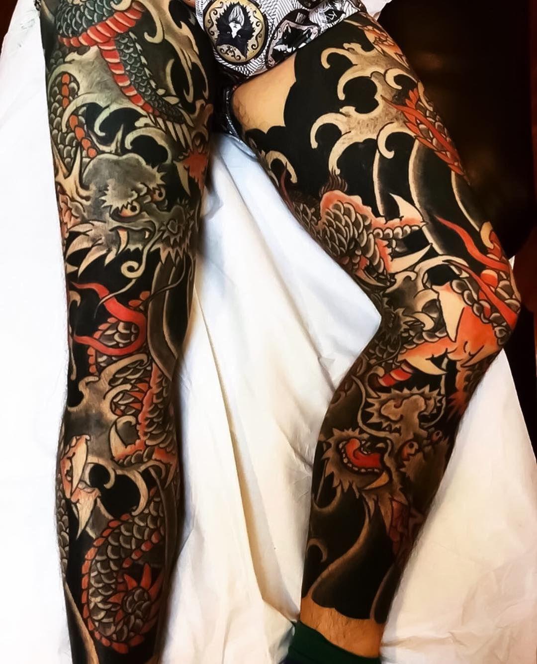 Japanese Ink On Instagram Japanese Leg Sleeves By Horihana Japaneseink Japanesetattoo Irezumi Te Japanese Tattoo Japanese Legs Japanese Tattoos For Men