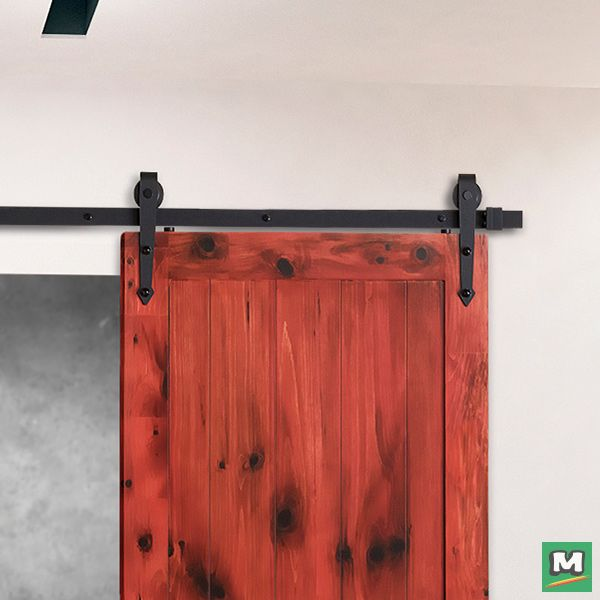 Charmant With A Pointed Arrowhead Strap Design, This Surface Mounted Barn Door  Hardware Complements Southwest Or