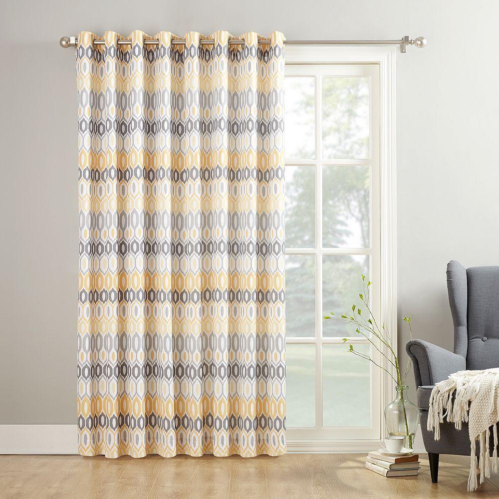 No918 Alvin Patio Curtain, Yellow