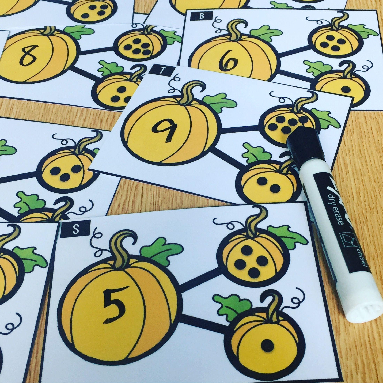 Pumpkin Number Bonds Task Cards Part Part Whole