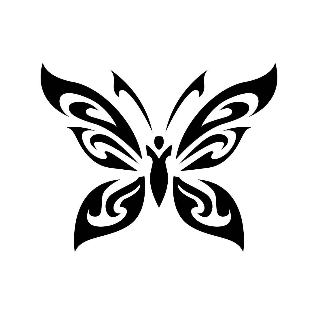Graphic Tribal Butterfly Wings Clip Art - Vector Genius