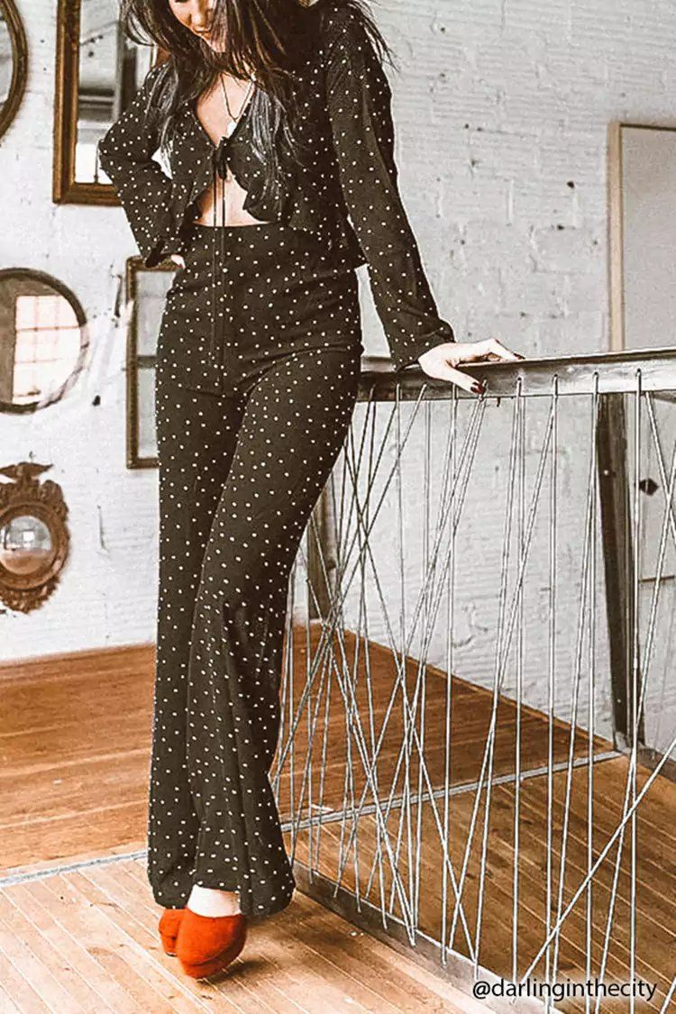 a991e067517 Product Name Cutout Polka Dot Jumpsuit