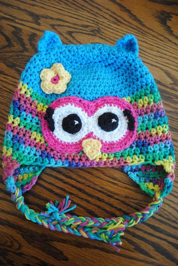 Crochet owl hat | toucas | Pinterest | Gorros y Bebe