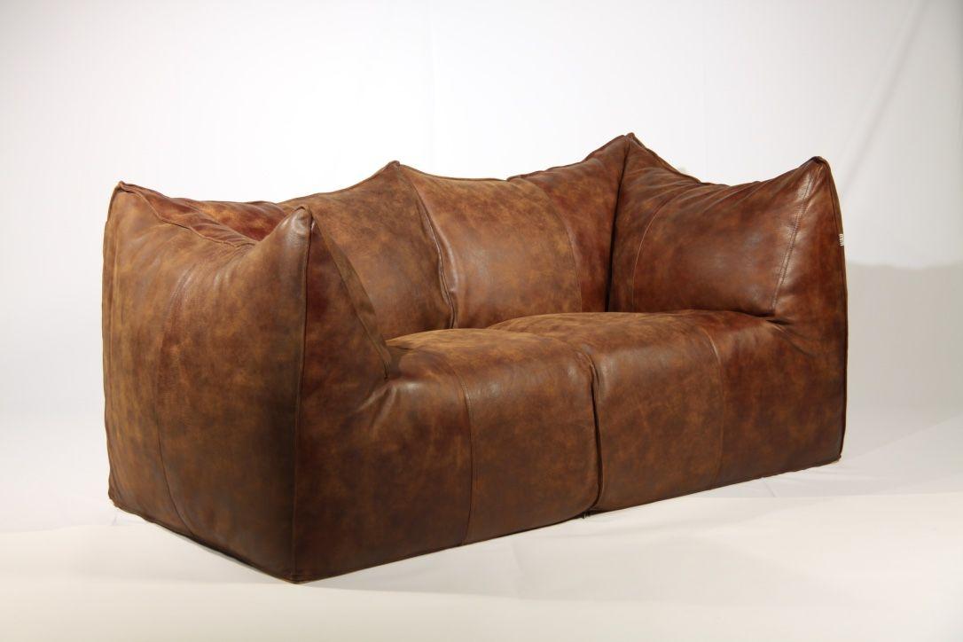 Vintage Le Bambole Leather Sofa By Mario Bellini For Bu0026B Italia, 1970s 2
