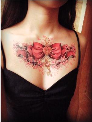 Sailor Moon Sakura Transformation Bow Large Tattoo Sticker Neck Tattoo Serenity Tattoo Girly Tattoos