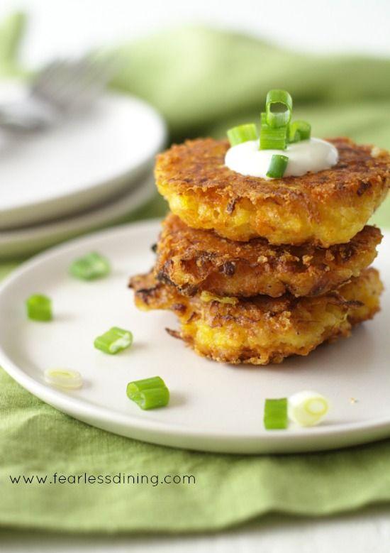 Gluten Free Delicata Squash Cheddar Fritters http://www ...