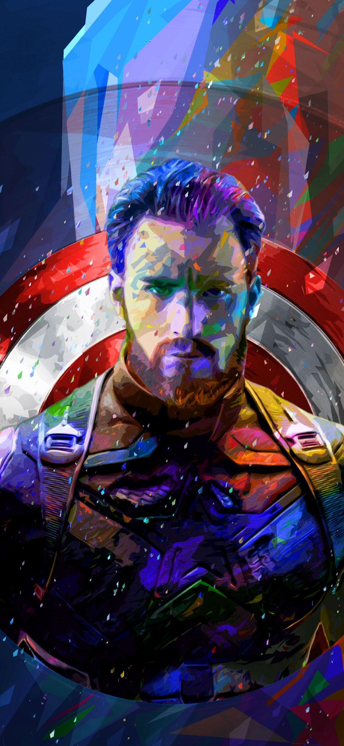 Captain America Colorful Art 1125x2436 Wallpaper Superhero Wallpaper Captain America Wallpaper Abstract Art Wallpaper