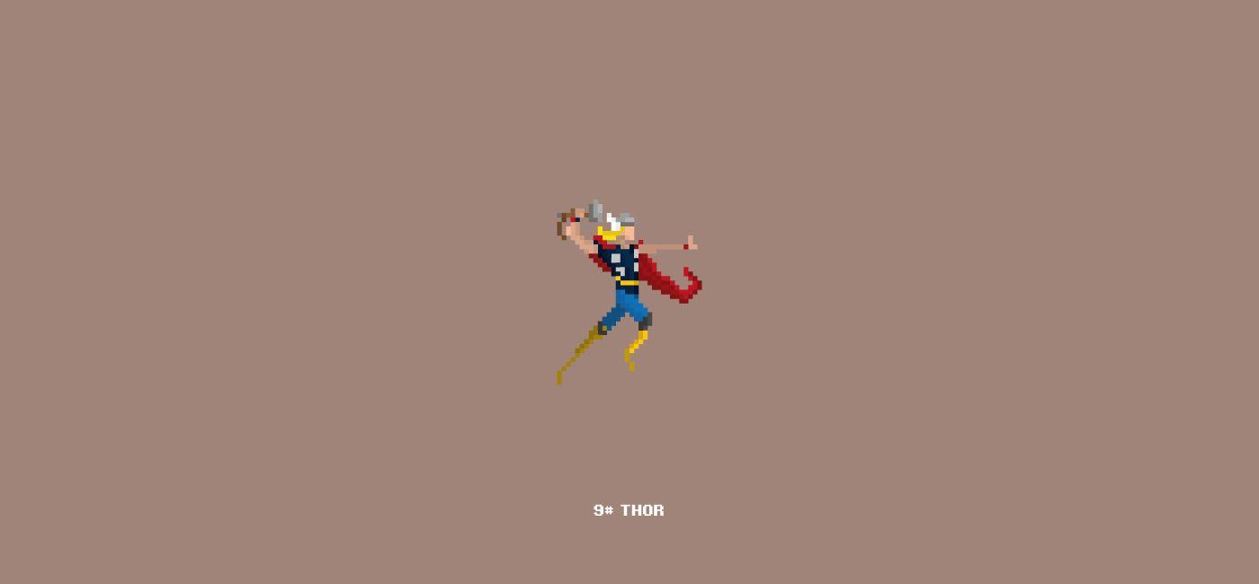 Pixel Art_Marvel Characters on Behance