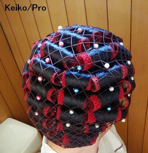 Keiko S Net Curlers And Rollers Pinterest Retro