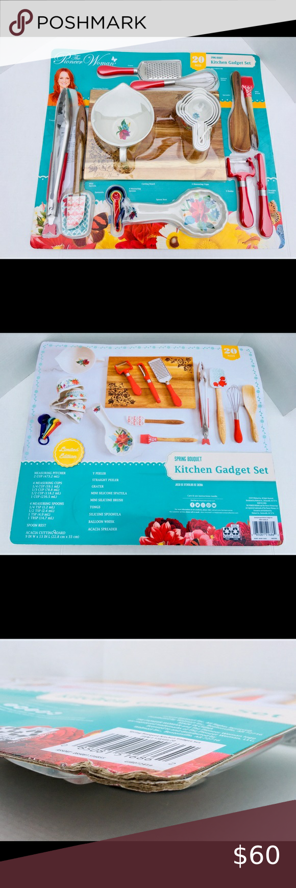 Pioneer Woman 20 PC Kitchen Gadget Set •Brand New, Never Used •20 piece kitchen…