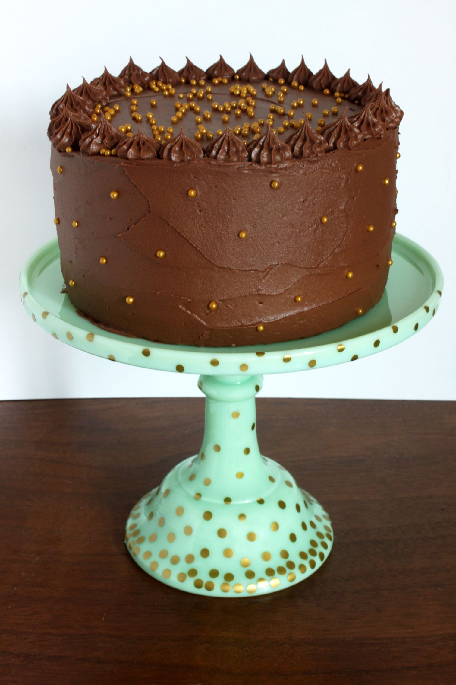 Polka-Dotted Cake Stand  50 Gorgeous Do-It-Yourself Cake Stands