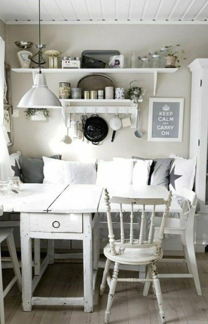 Sitzecke in der k che shabby chic wei gestalten shabby deko table epoxytable woodentable  ...